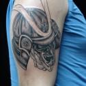 Tatuaje Calavera Samurai