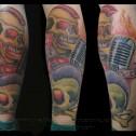 Tatuaje Calaveras en Pierna