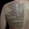 Tatuaje Texto Espalda