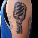 Tatuaje Microfono Vintage