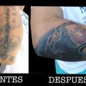 Tatuaje Coverup Pantera