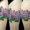 Tatuaje Rosas y Colibrí