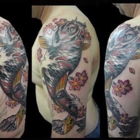 Tatuaje Carpa koi