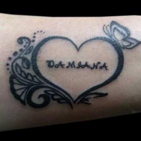 Tatuaje Corazon y Nombre