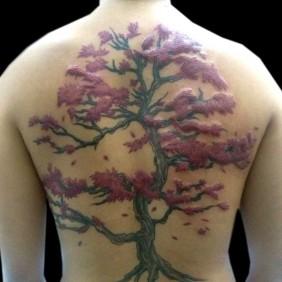 Tatuaje Bonsai Espalda