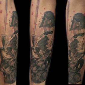 Tatuaje Geisha Samurai