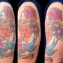 Tatuaje Flores Y Golondrina