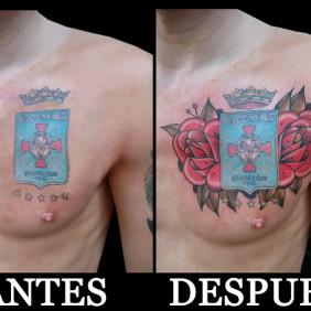 Tatuaje Rosas para Escudo