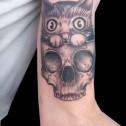 Tatuaje Gato Calavera