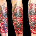 Tatuaje Tijeras y Rosas