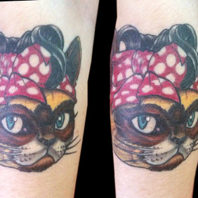 Tatuaje Gata Siamesa