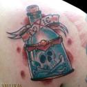 Tatuaje Botella Toxic
