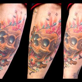 Tatuaje Calavera y Drogas