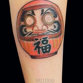 Tatuaje Daruma Japones