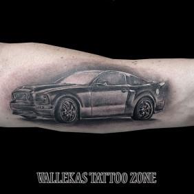 Tatuaje Mustang Coche