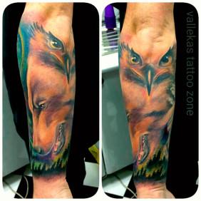 Tatuaje Oso y Aguila