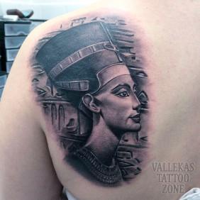 Tatuaje Nefertiti