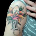 Tatuaje Flor y Geminis
