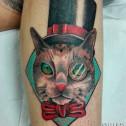 Tatuaje Gato Chistera