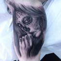 Tatuaje Catrina Chola